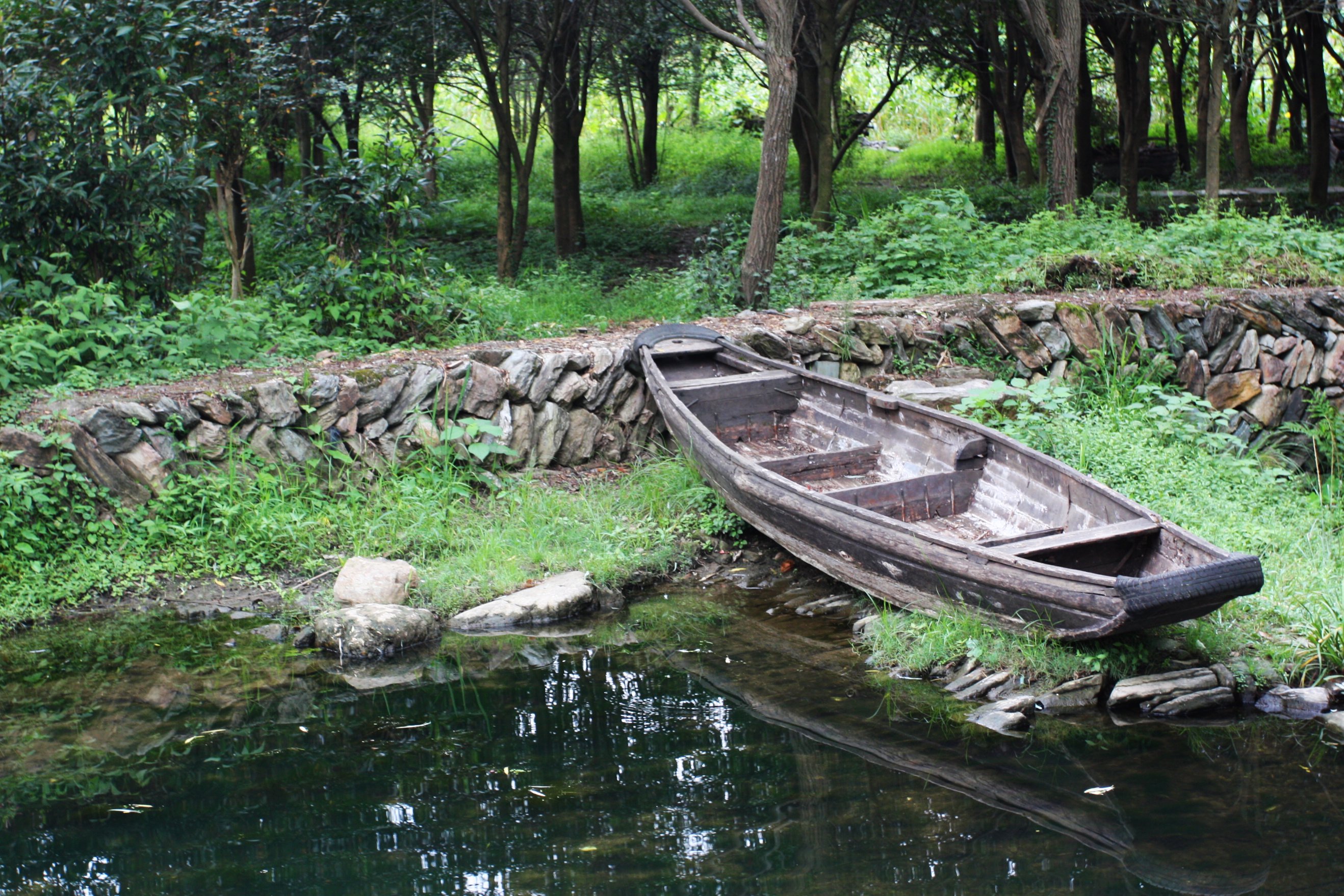 Boat on River at Wuyan village China
