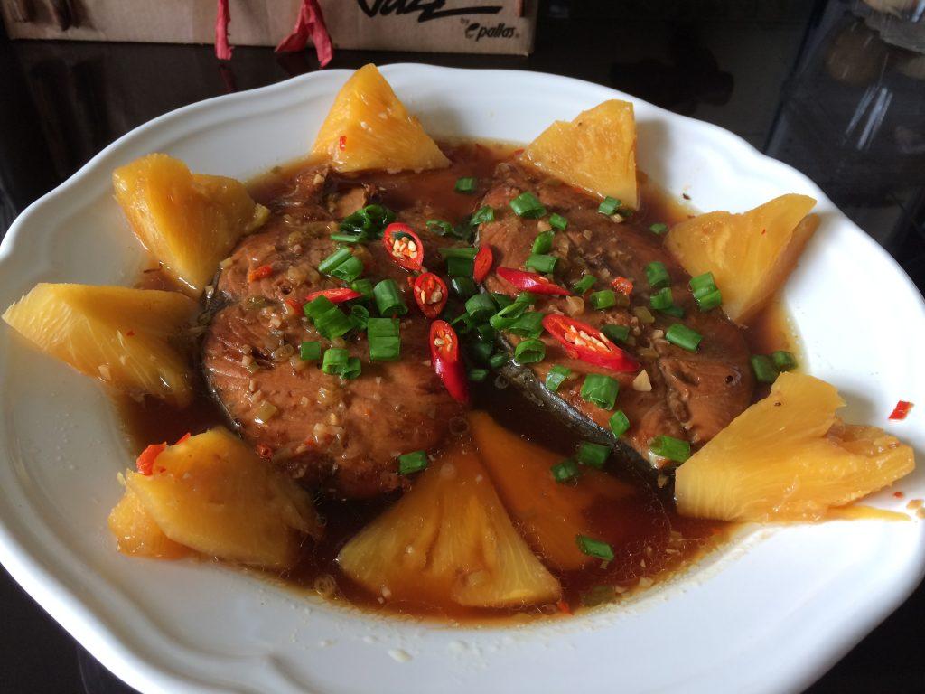 Vietnamese Fish with Pineapple Dish – Cá Thu Kho Khóm